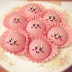 kirby cupcakes