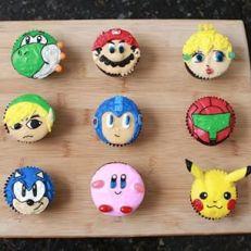 Videogame cupcakes