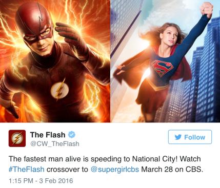 Flash y Supergirl TV