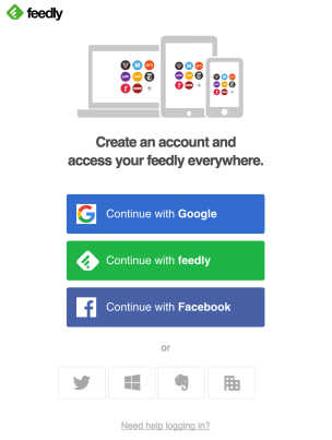 Feedly-Registro
