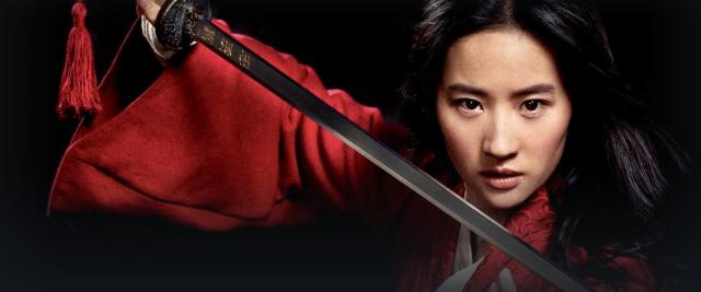 Imagen de la actriz Liu Yifei como Mulán